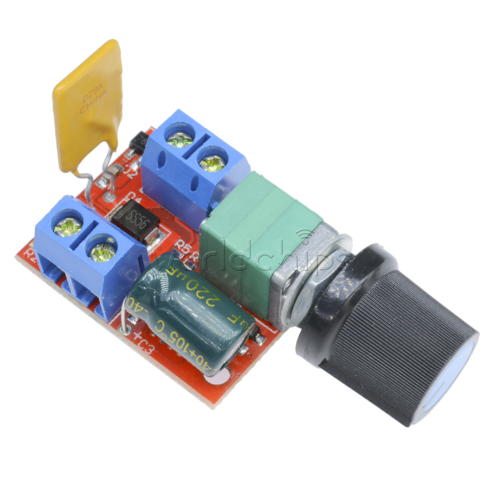 Mini 5a motor pwm speed controller dc 3 35v speed control for Small dc motor controller