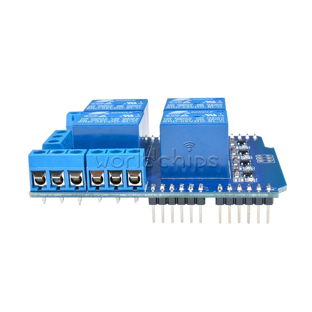 4 Channel 5v Relay Module Shield Terminal Expended Board 4ch For High Current Arduino The Provides Four Quality That Can Control Loads To Boards It Also No Normally Open Nc