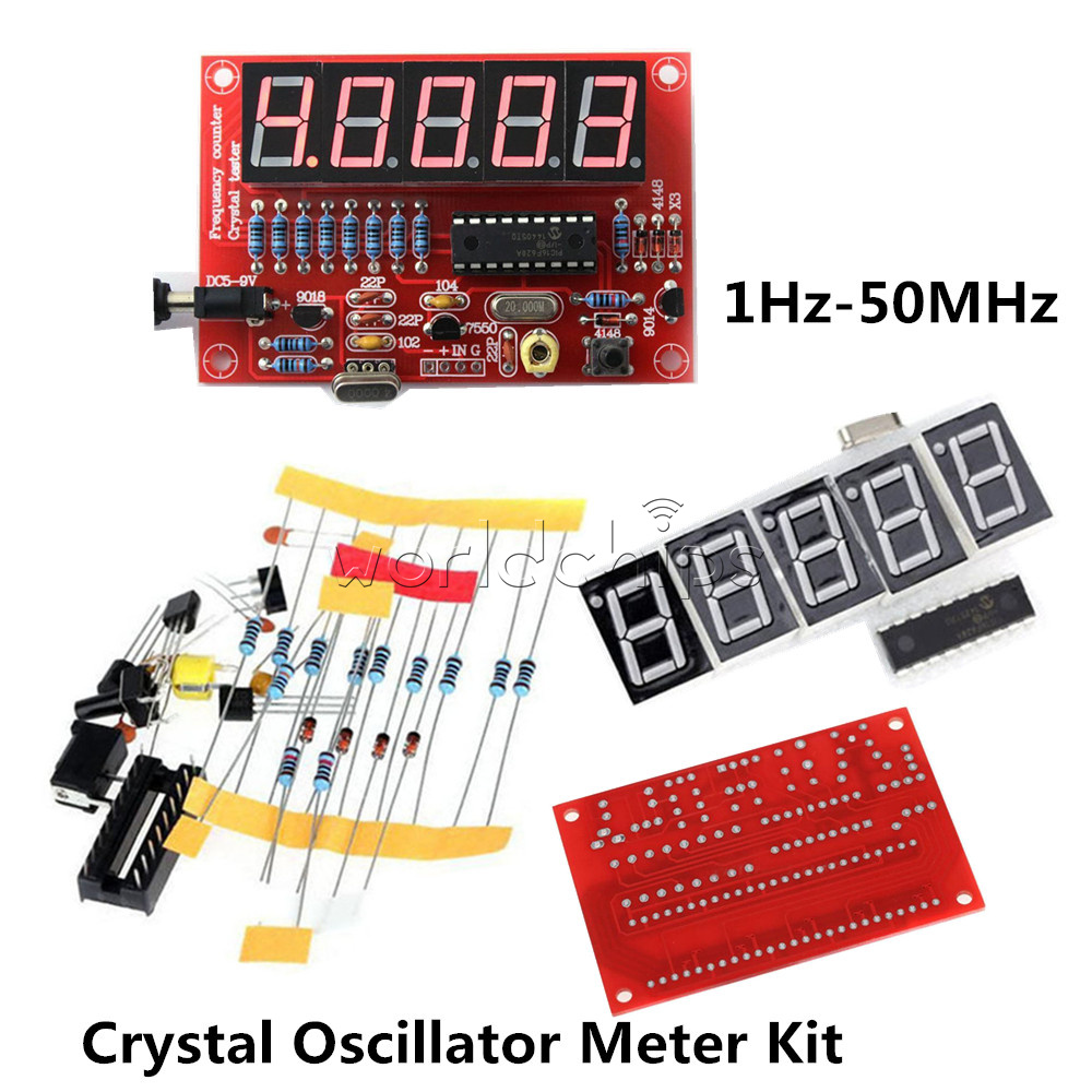 Diy Kits Digital Led Crystal Oscillator Frequency Counter Meter Circuit The Variable Tester 1hz 50mhz