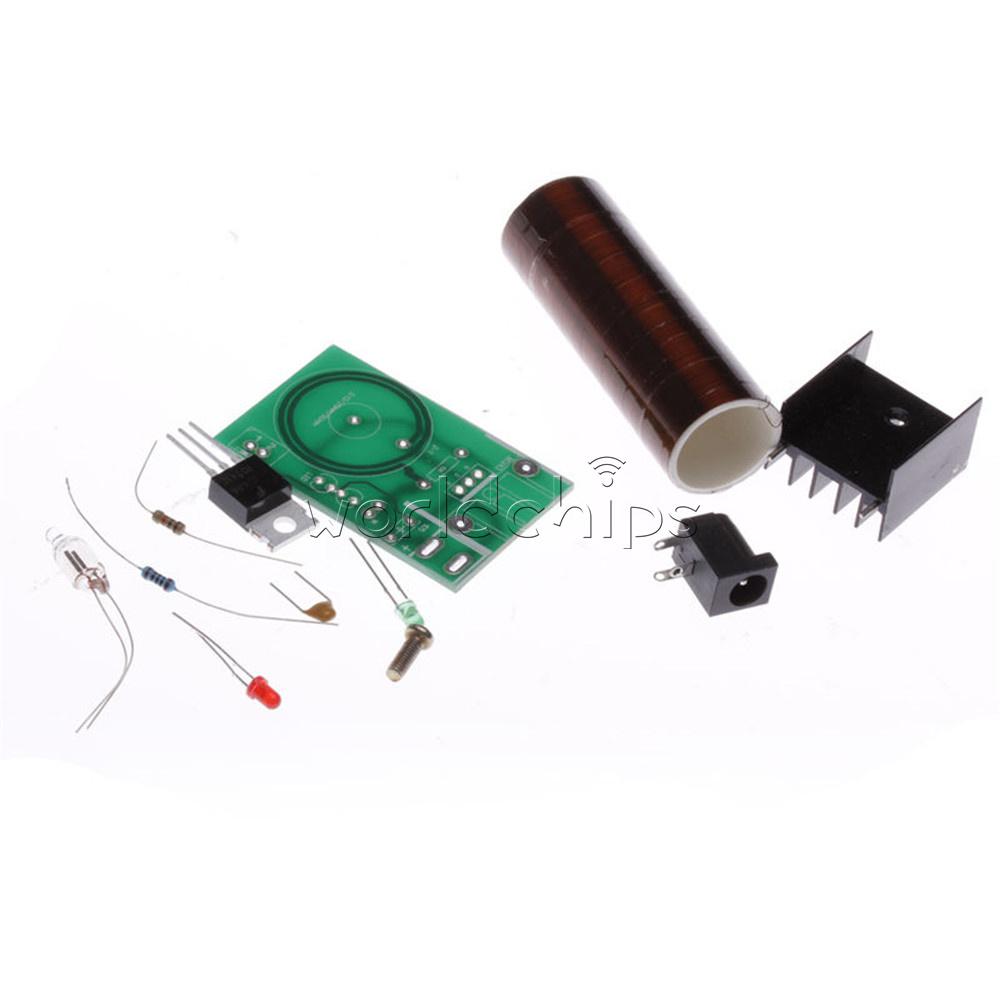 Mini Dc 12v Tesla Coil Diy Kit Arc Wireless Electric Power Teslawirelesspowercircuitjpg Transmission Lighting