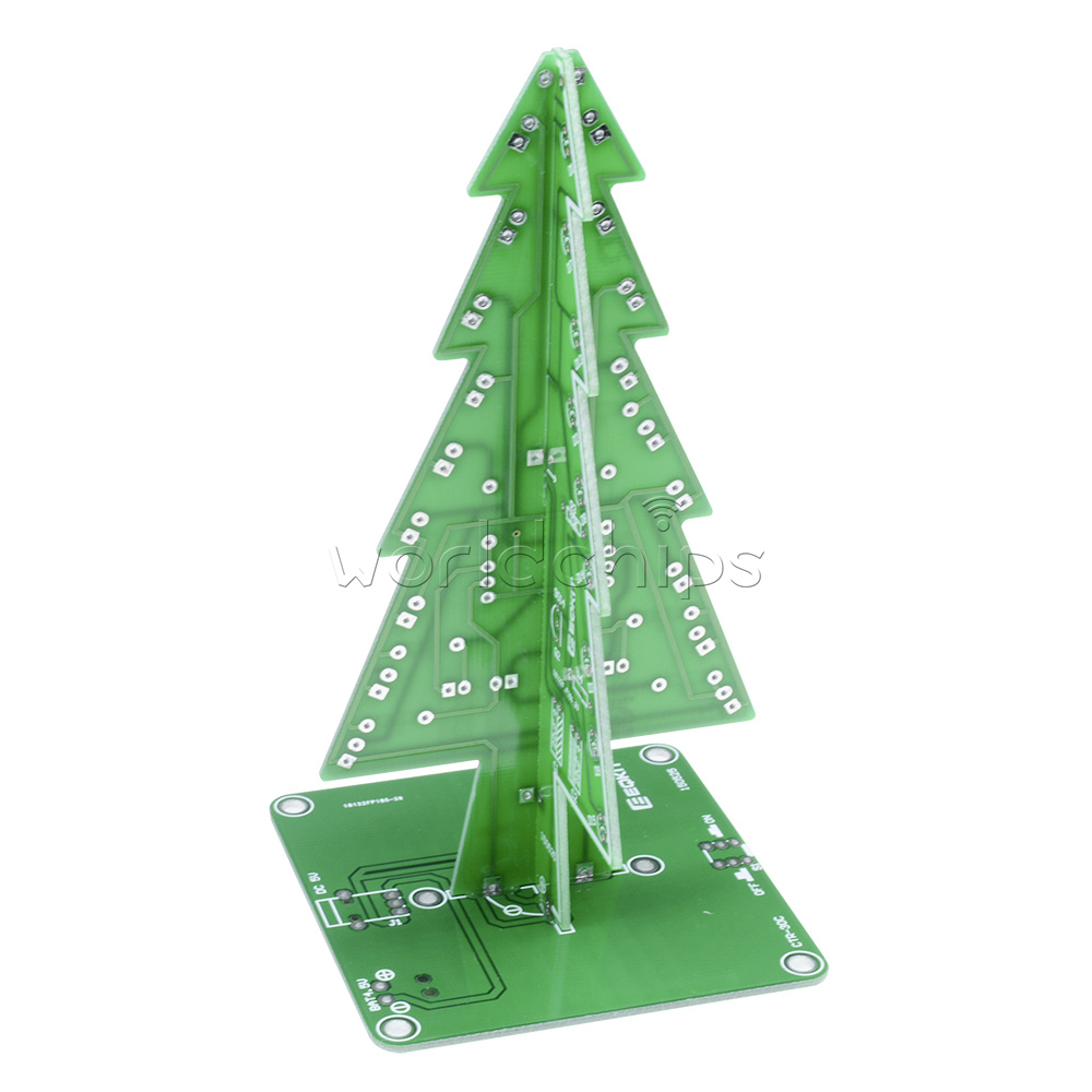 2pcs Christmas Trees Led Diy Kit Professional Red Green