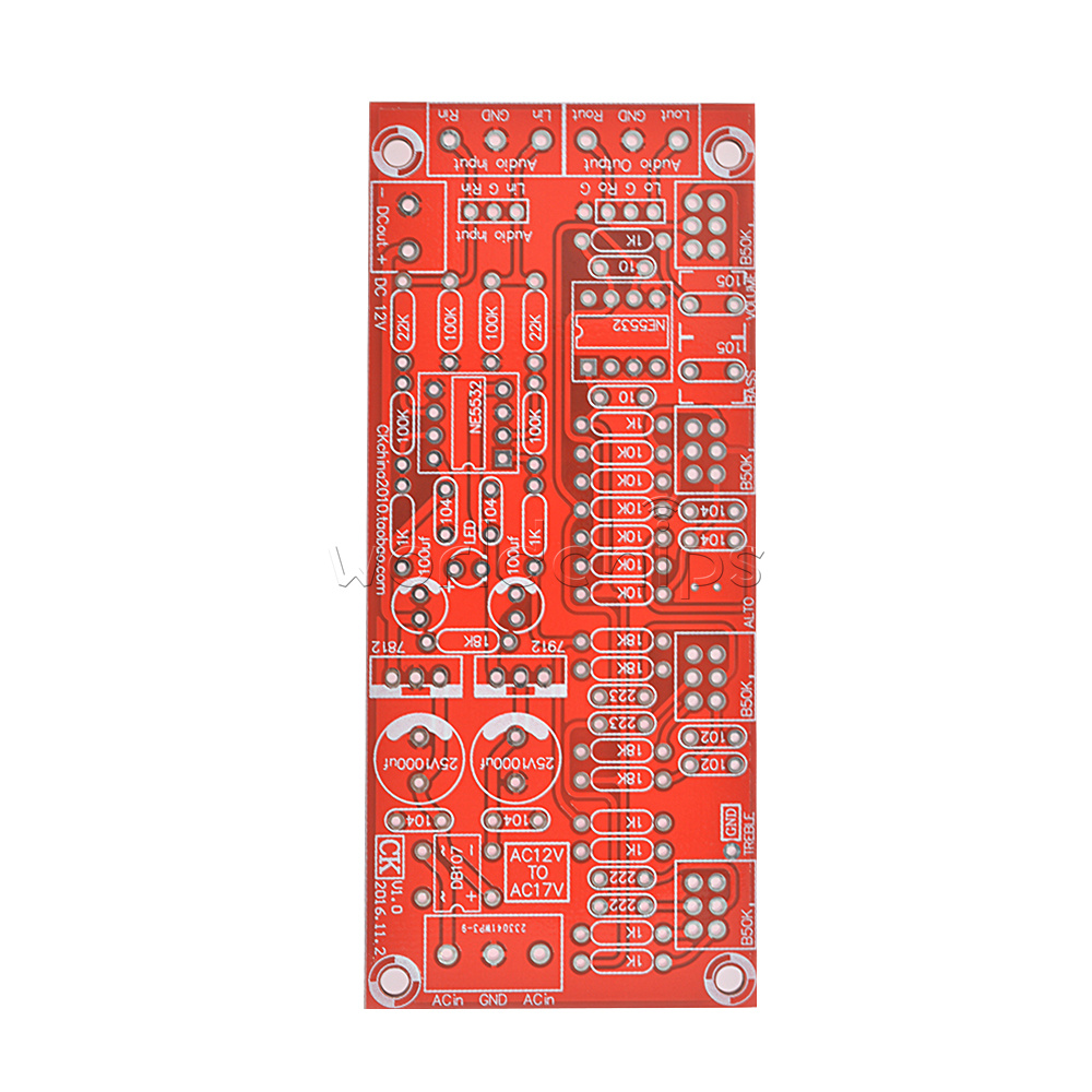 Ne5532 Pre Amplifier Preamp Tone Board Treble Alto Bass Volume Preamplifier Circuit Diagrams Control Kits Diy
