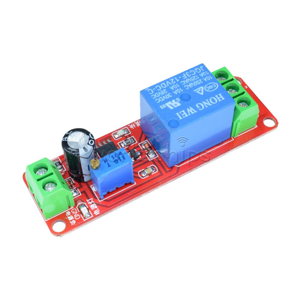 Dc 12v Delay Relay Module Timer Switch Adjustable 0 10 Second Ne555 Circuit Oscillator