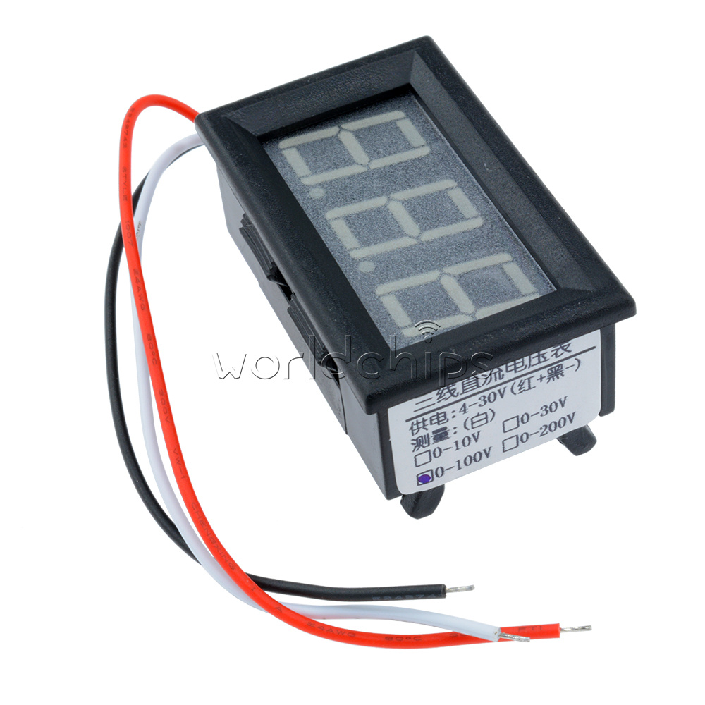 Digital Panel Meter 9v 3 5 : Three wires green led display panel meter mini digital