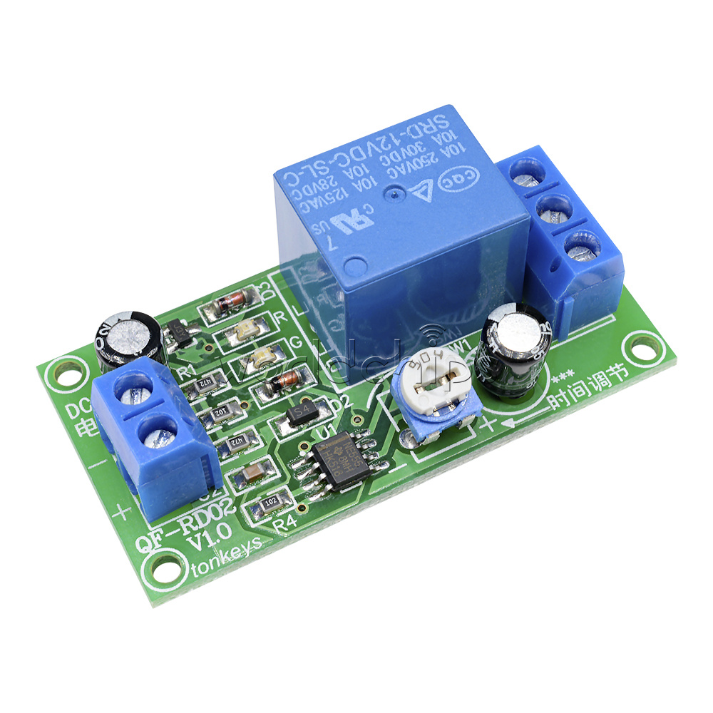 0 60 Second Delay Time Switch 1 Minute Adjustable Dc12v Ne555 Timer 555 Circuit With Variable On Off Times Schematic Relay Module
