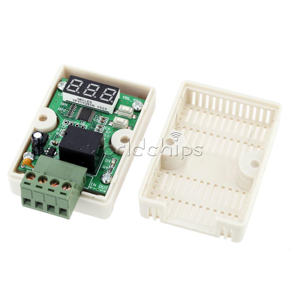 12v 20a relay voltage control delay under voltage meter protection