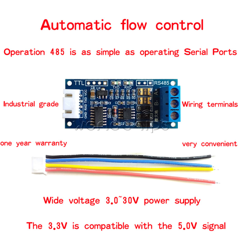 33v 50v Ttl To Rs485 Converter Module Hardware Auto Control For Circuit Schematic Diagram Rs232 Wiring Arduino Avr
