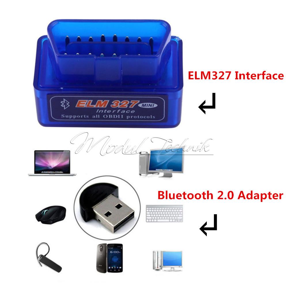 Mini Elm327 Obd2 Ii Bluetooth Car Auto Obd2 Diagnostic
