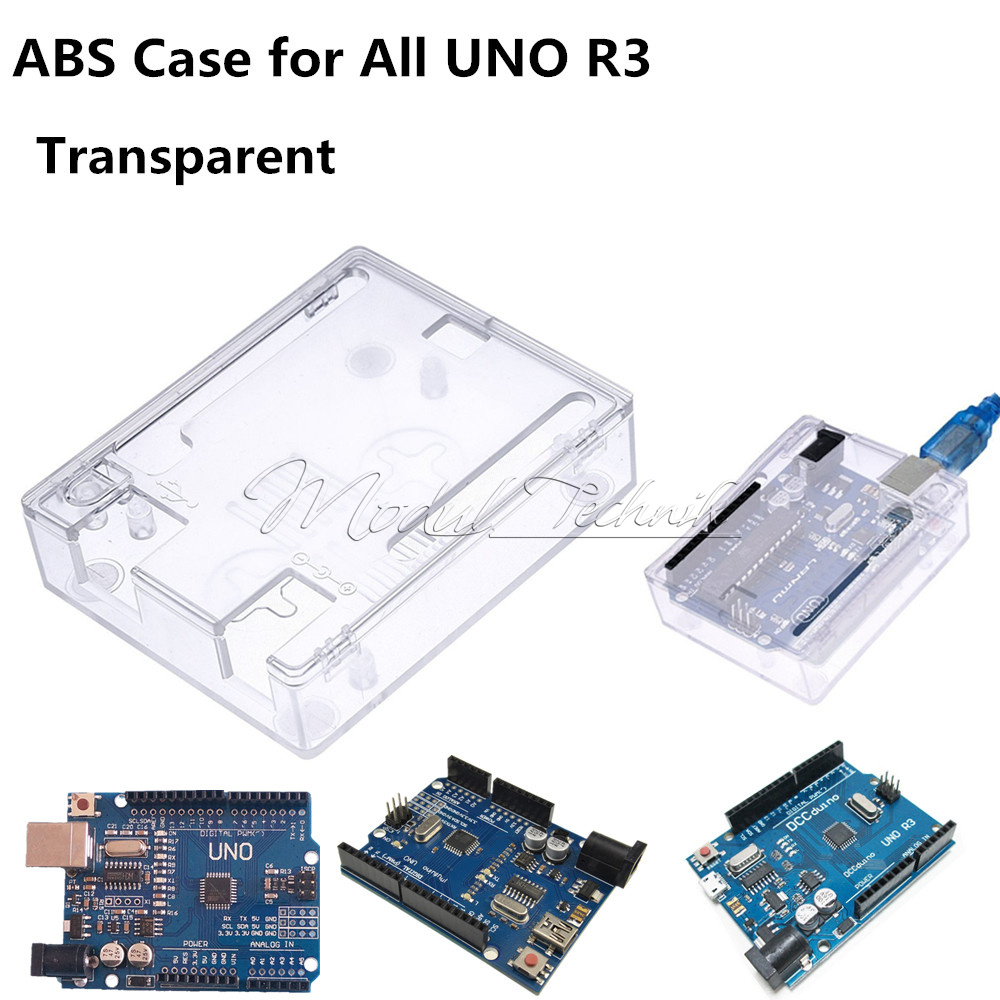Black clear abs case shell enclosure box screw for arduino
