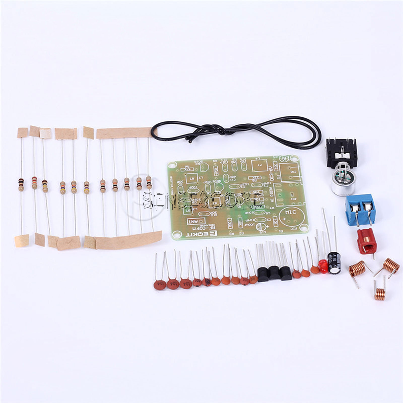 Fm Wireless Microphone Suite Radio Transmitter Diy 15 9v 88 Bh1415f Stereo Pll Power Amplifier The 108mhz Module