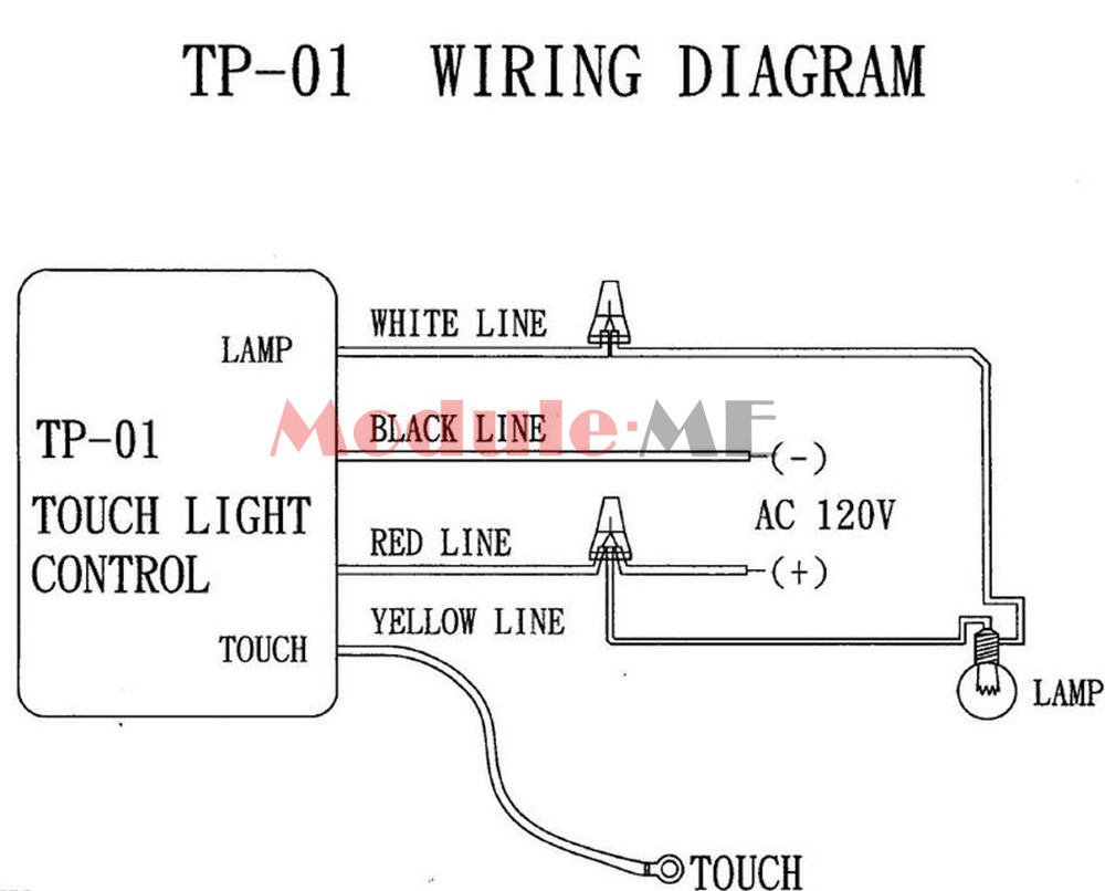 Table Light Parts On Off 1 Way Touch Control Sensor Bulb Lamp Switch Wire Diagram Ac 220v Mo