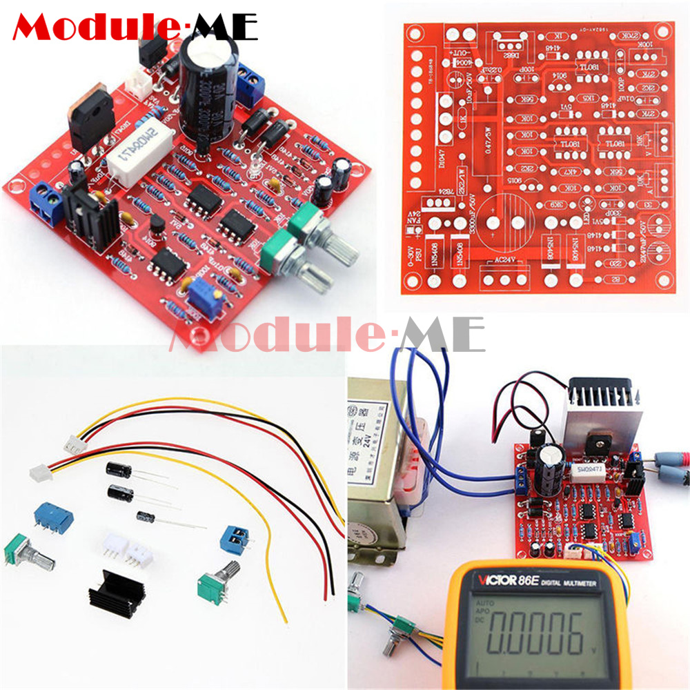 0 30v 2ma 3a Adjustable Dc Regulated Power Supply Diy Kit Short W Circuit Diagram Of Protection Mo