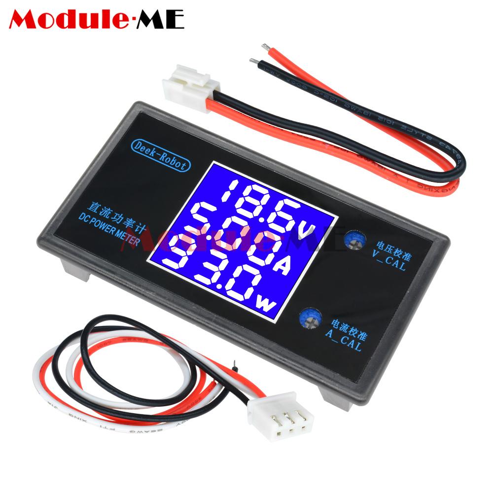 Dc 50v 5a 250w Digital Lcd Voltmeter Ammeter Voltage Current Volt Led Display Besides Circuit Power Meter