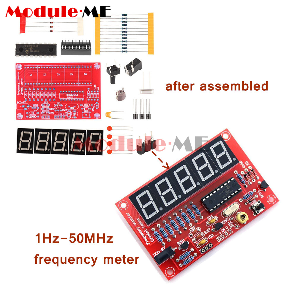1hz 50mhz Crystal Oscillator Tester Frequency Counter Diy Kits Meter Do It Yourself Circuit Schematic With Case