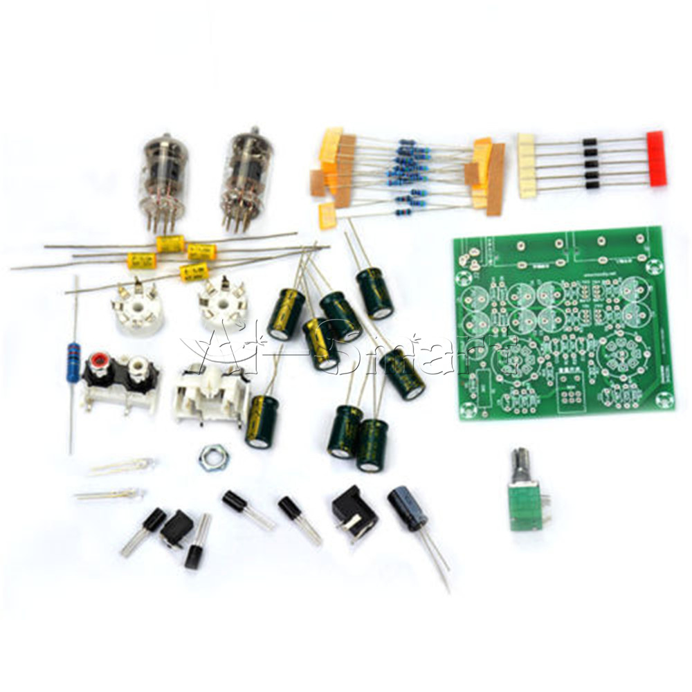 12v Tube Headphone Amplifier Schematic Wiring Diagrams For Dummies Compactron 6j1 Preamp Board Pre Amp Buffer