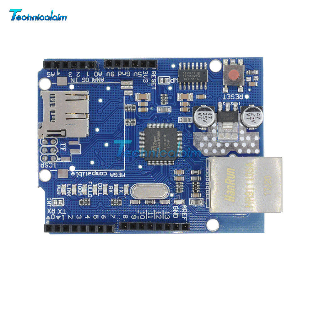Mega 2560 Ethernet Shield w5100 mit Cable for Arduino AR01006