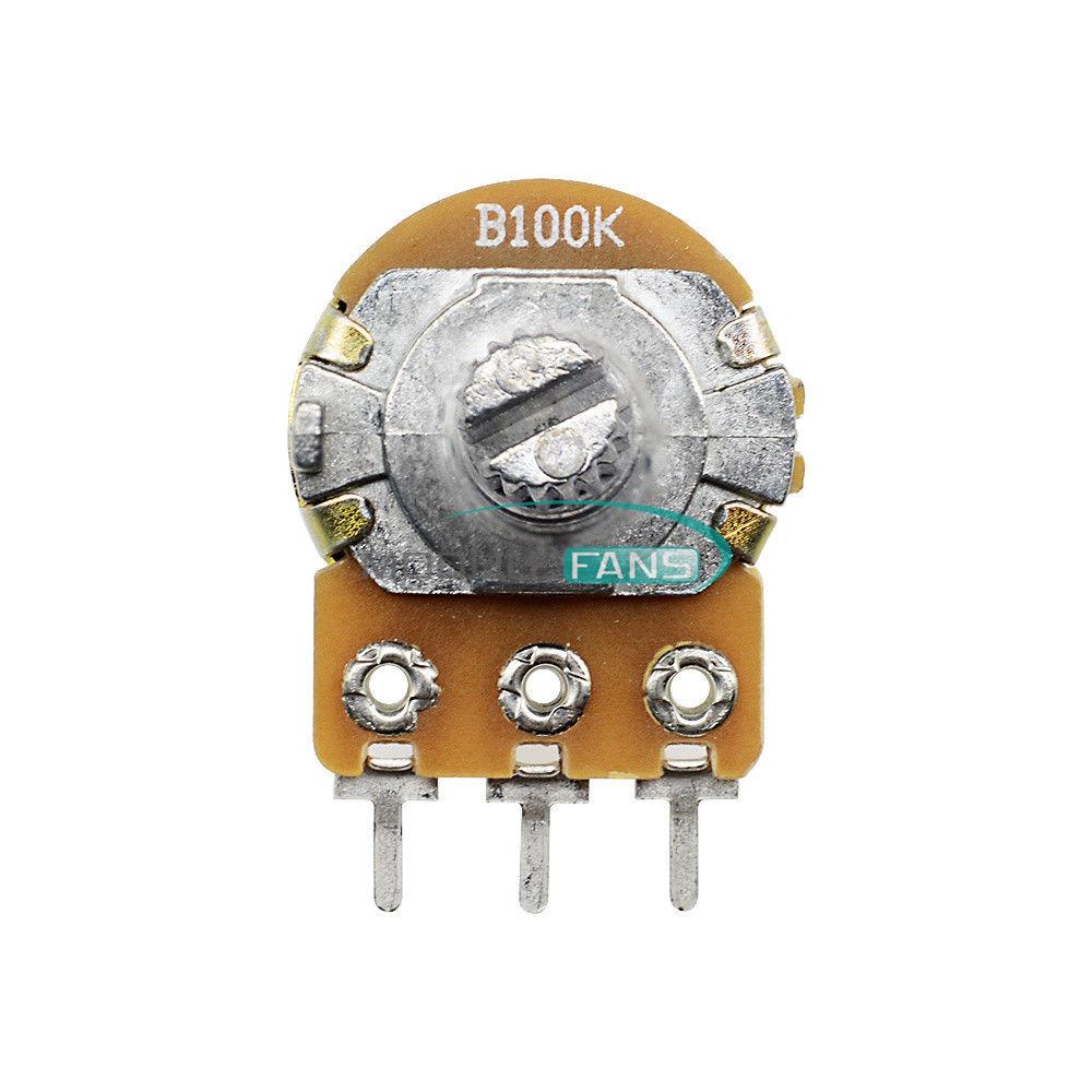 10Pcs 100K Ohm Linear Taper Rotary Potentiometer Panel Pot B100K 15mm 3Pin N hc