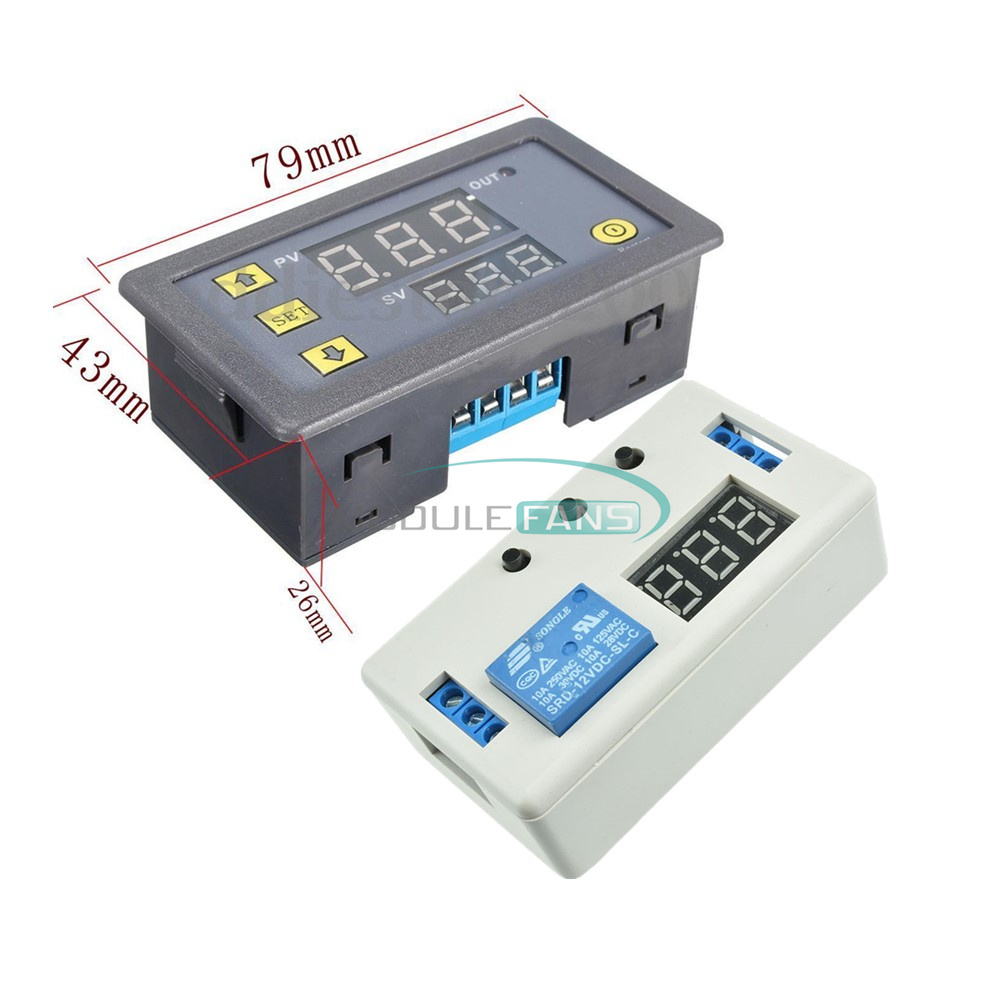 12v Led Automation Delay Dual Display Timer Control Switch