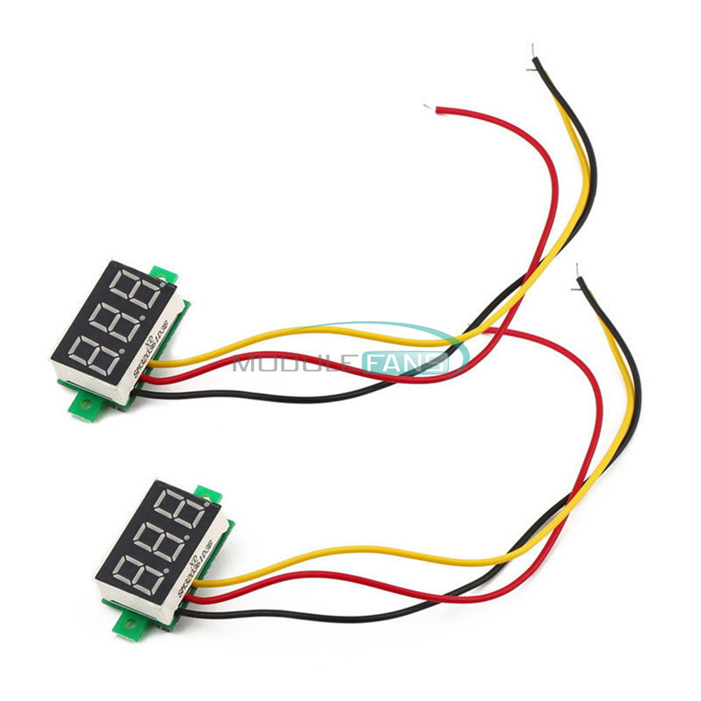 3 Wire 028 Led Dc 0 100v Voltmeter Digital Display Voltage Volt 12v Diagram Meter 24v