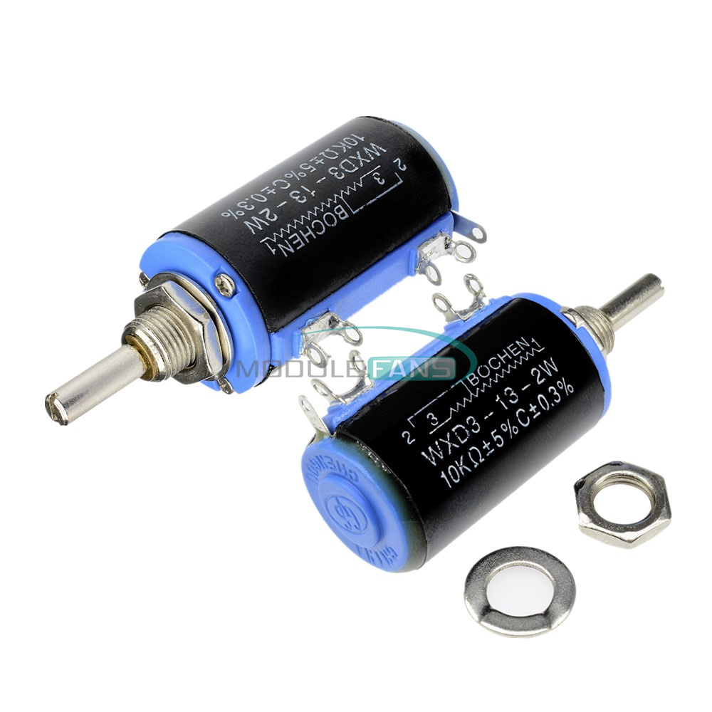 WXD3-13-2W 10K ohm Multiturn Wirewound Potentiometer Adjustable Resistor MF