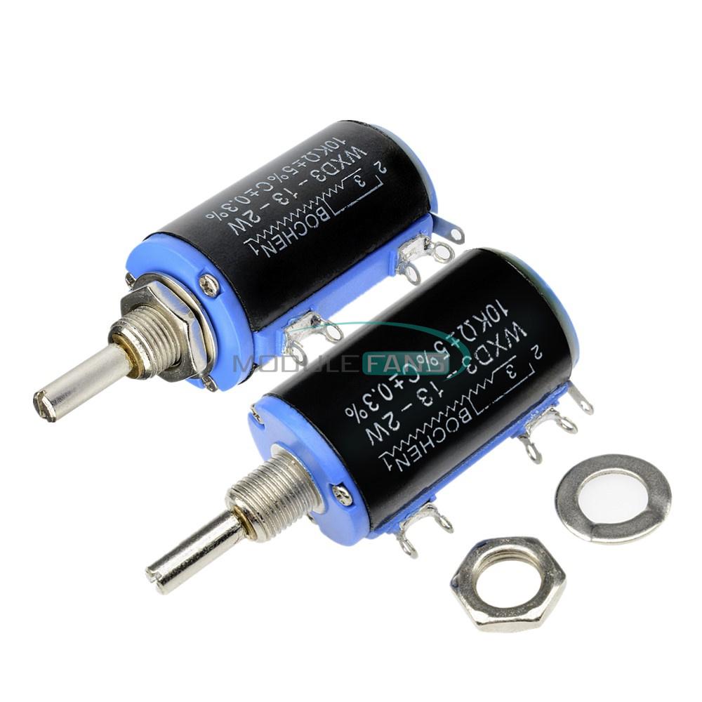 1Pcs WXD3-13-2W 10K Ohm Multi-Turn Wirewound Potentiometer LL