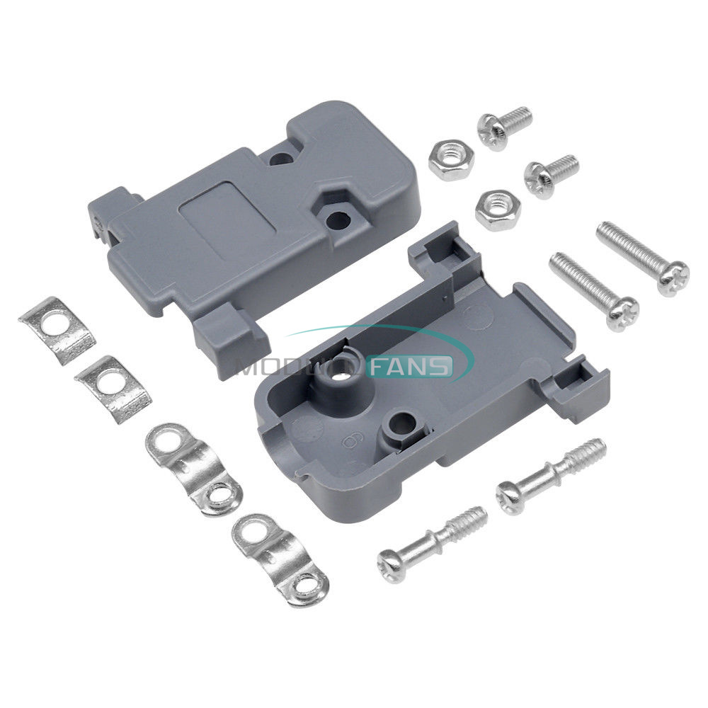 5Pcs Plastic Cover Housing Hood For D-SUB 50 Pin 3 Rows Connector With Hardware