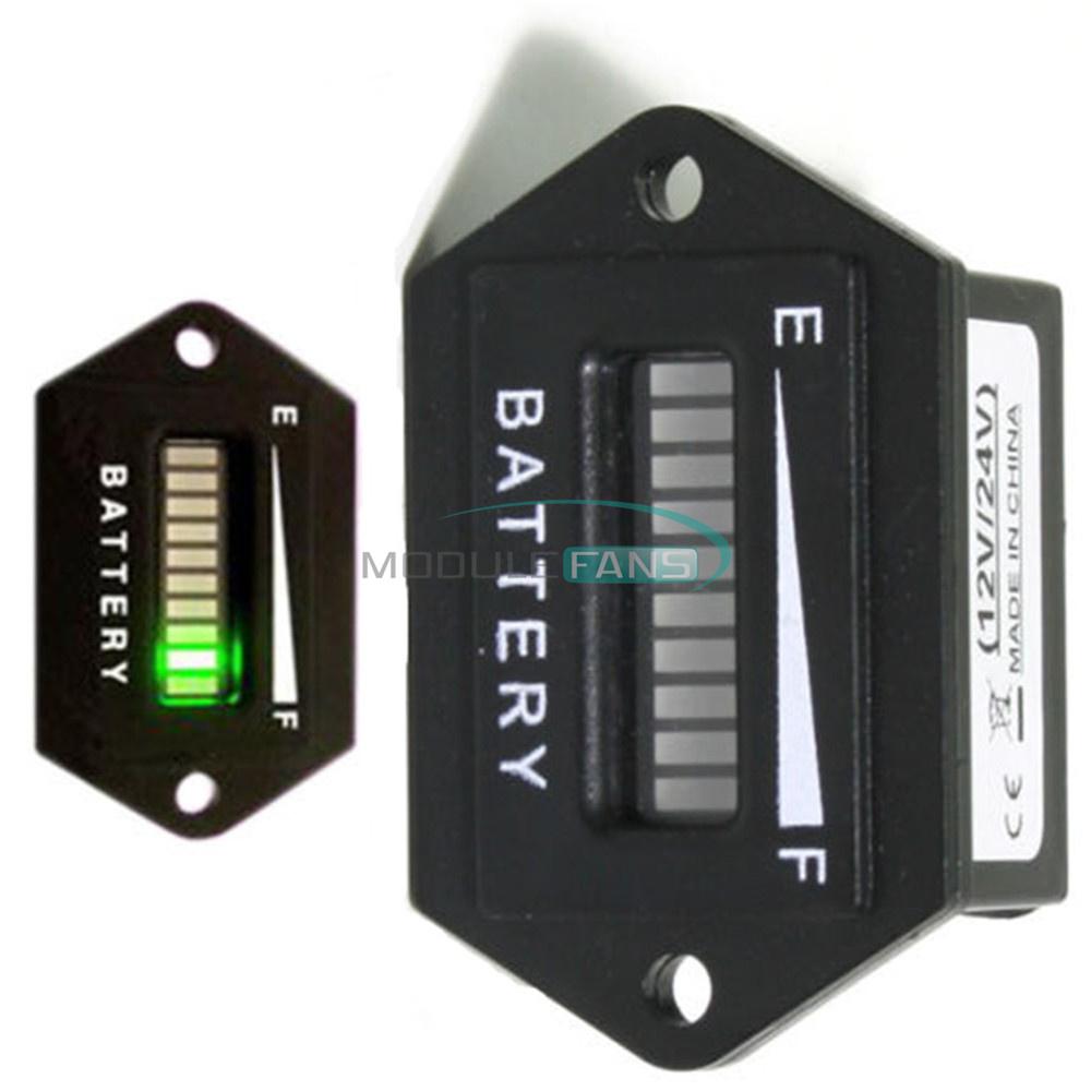 Battery Status Monitor : Battery status charge indicator monitor meter gauge led