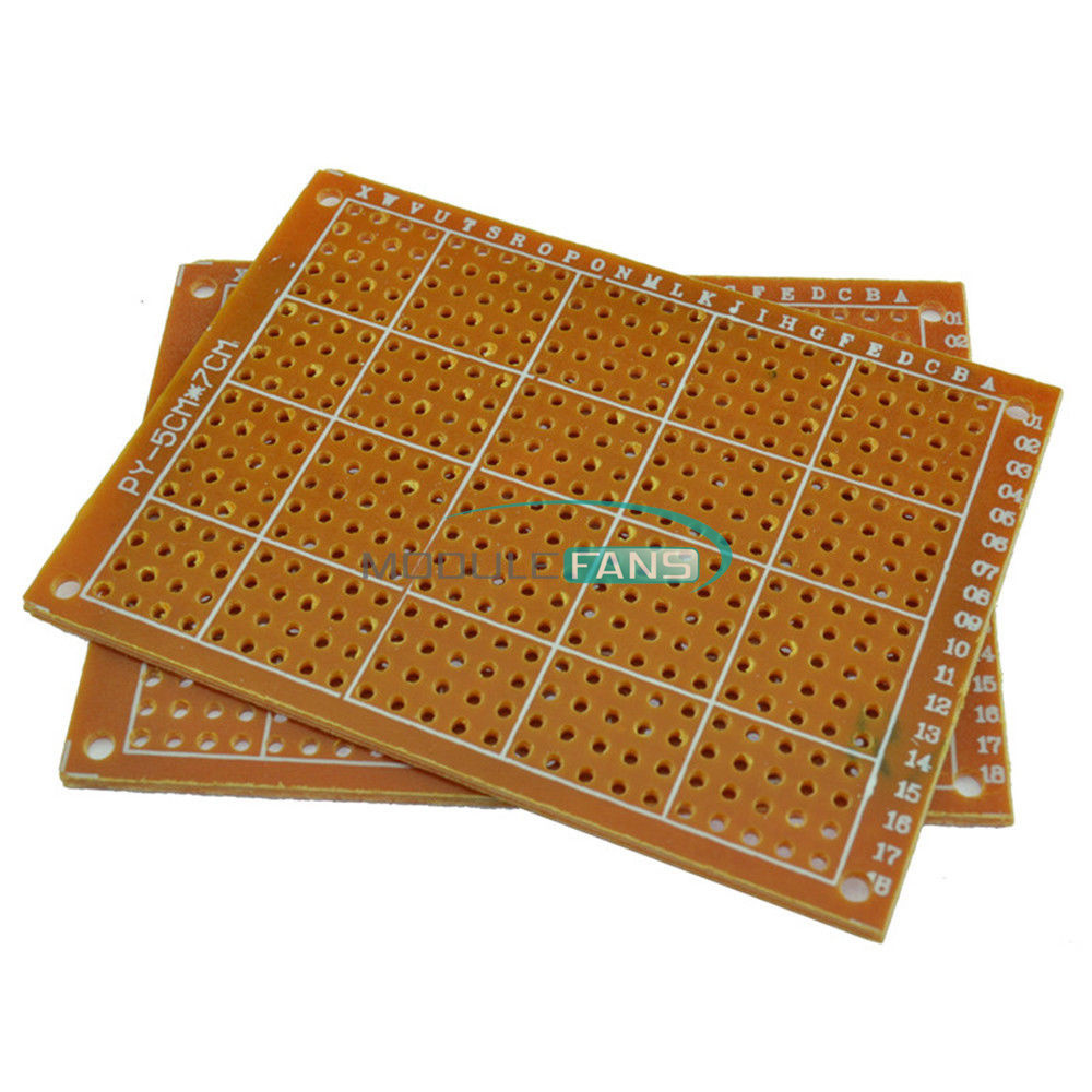 20pcs Solder Finished Prototype PCB for DIY 5x7cm Circuit Board BREADBOARD TW