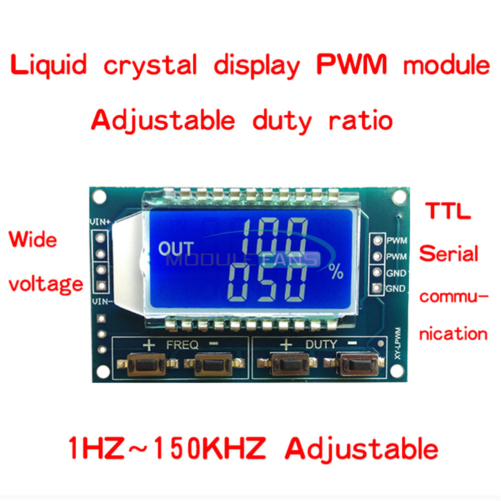 2ch Independent Pwm Generator Duty Cycle Pulse Frequency Led Digital Electronic Device And Circuit Tube Module