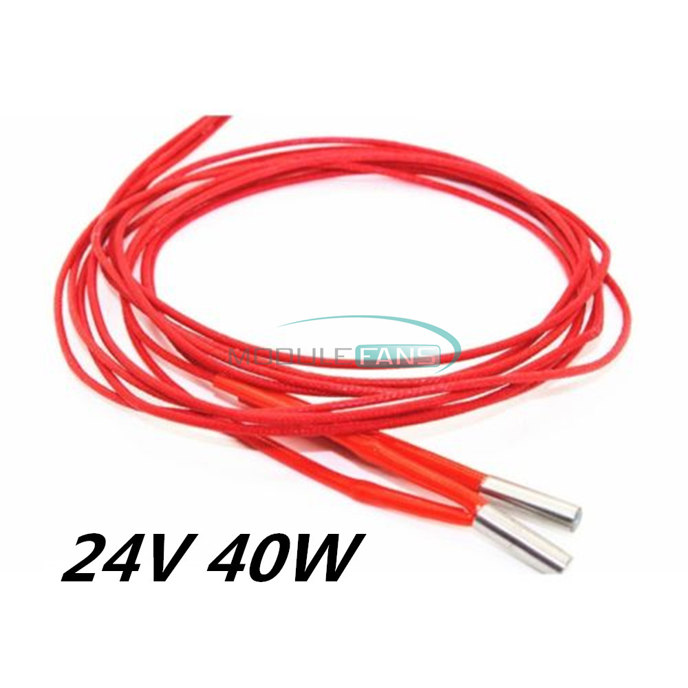 10PCS 12v 40W Ceramic Cartridge Wire Heater For Arduino 3D Printer Prusa Reprap