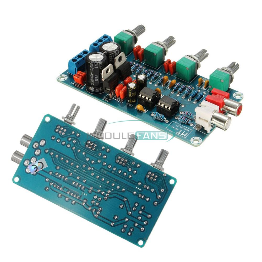 Diy Kits Ne5532 Hifi Op Amp Preamplifier Volume Eq Tone Amplifier Control Circuit For Guitar Using 741 Board