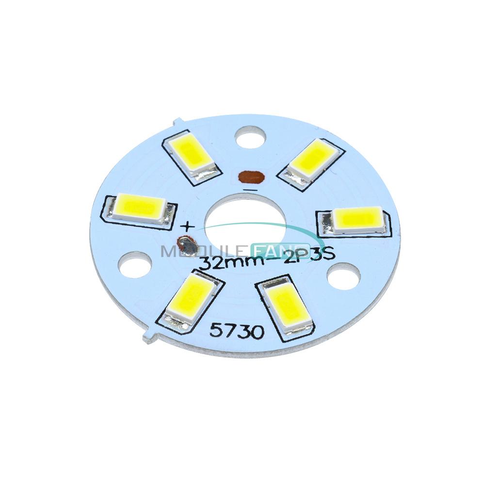 7W 5050 Warm White LED Light Emitting Diode SMD 220V Highlight Lamp Panel 50mm