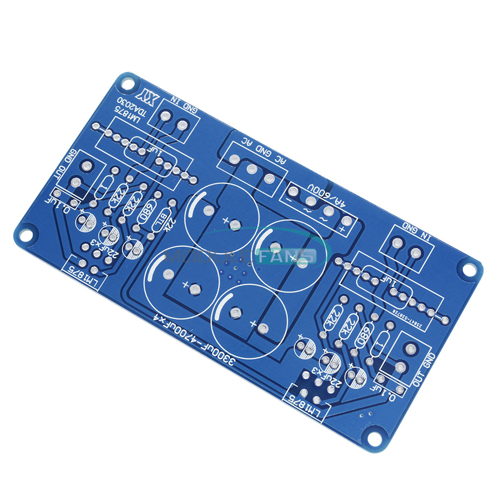 2pcs Tda2030tda2030a Lm1875t Lm675 Audio Power Amplifier Pcb 18w Stereo Hifi Tda2030 Eeweb Community Board Diy