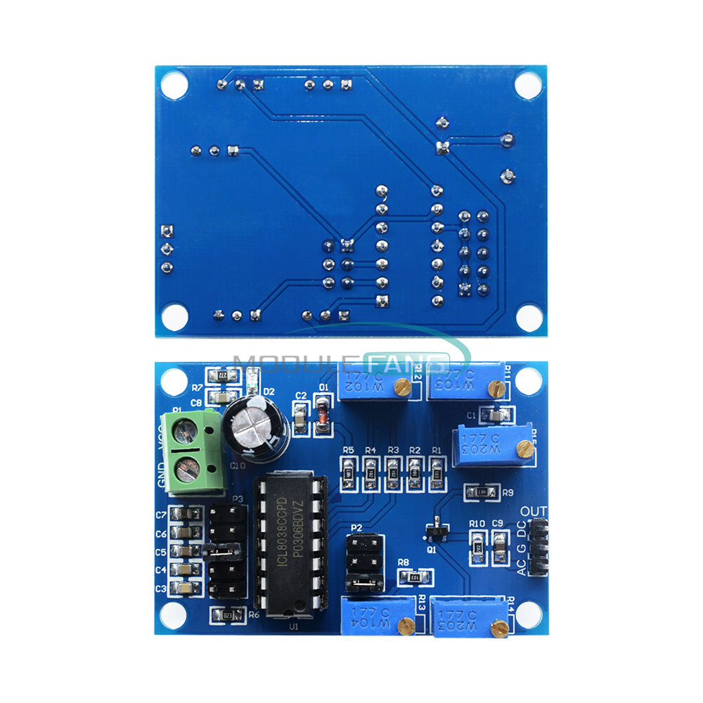 DC 5-12V Frequency Signal Source Pulser PWM Square-wave Generator 1Hz-100KHz