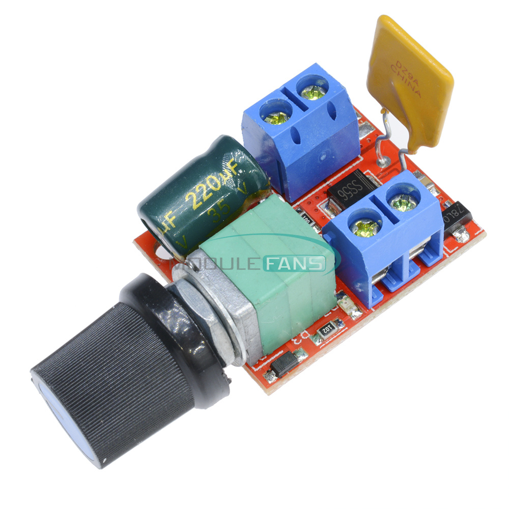 Mini 5a motor pwm speed controller dc 3v 35v switch led for Small dc motor controller