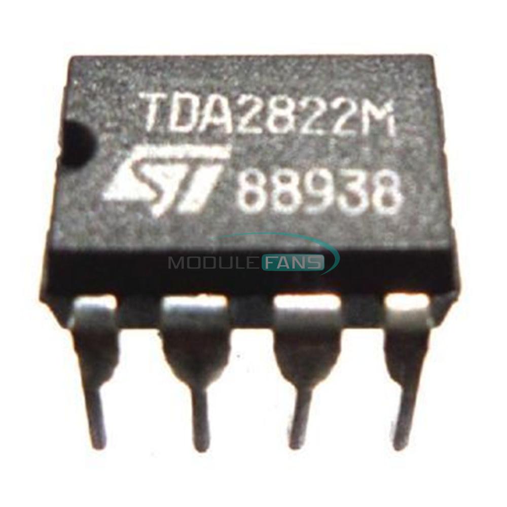50PCS IC TDA2822 TDA2822M DIP-8 ST AMP AUDIO DUAL LOW VOLT NEW DATE CODE