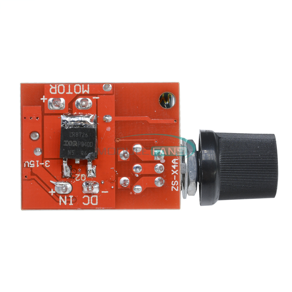 Mini 5a motor pwm speed controller dc 3 35v switch led for Small dc motor controller