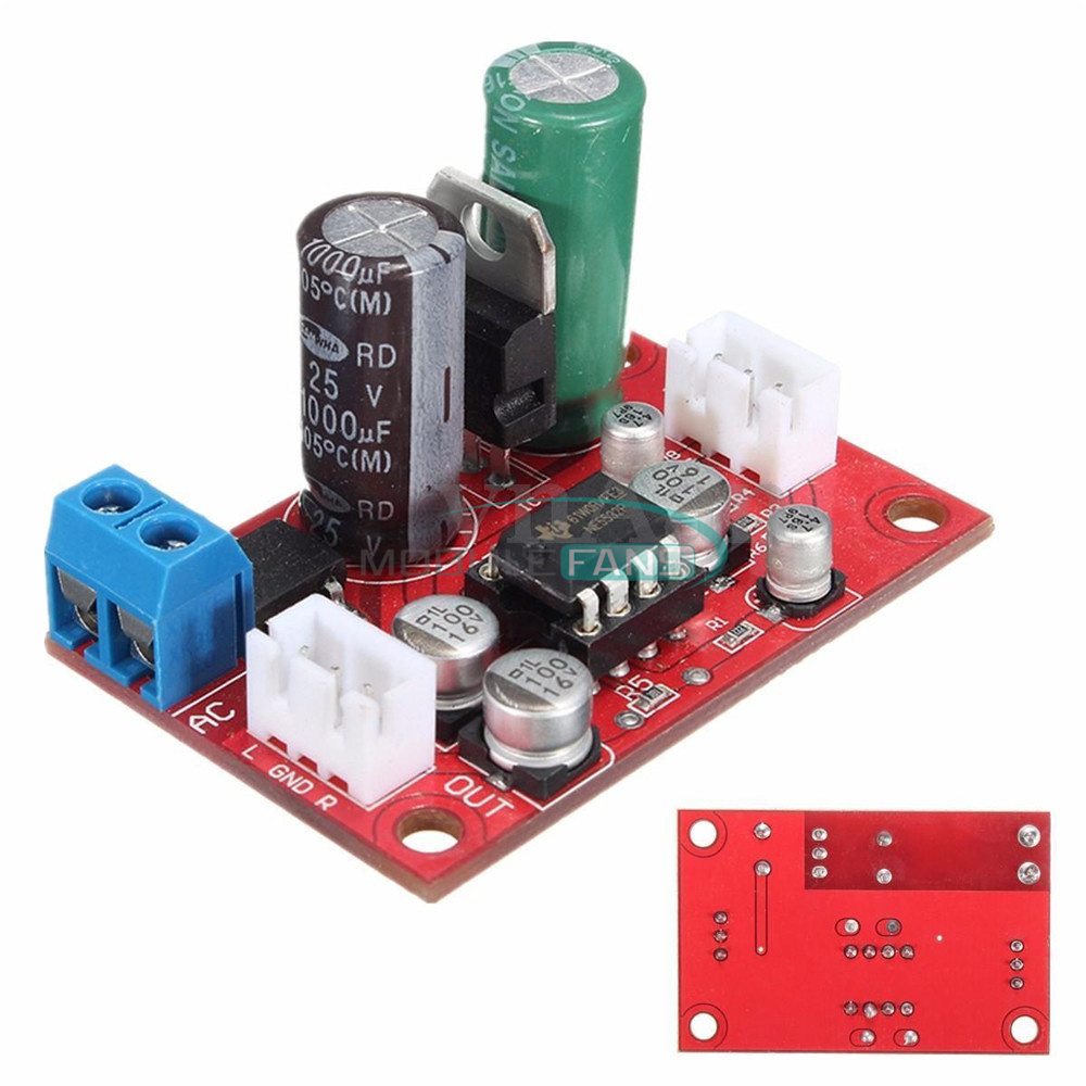 diy ne5532 dynamic microphone stereo preamp amplifier board dc9 24v ac8 16v ebay. Black Bedroom Furniture Sets. Home Design Ideas