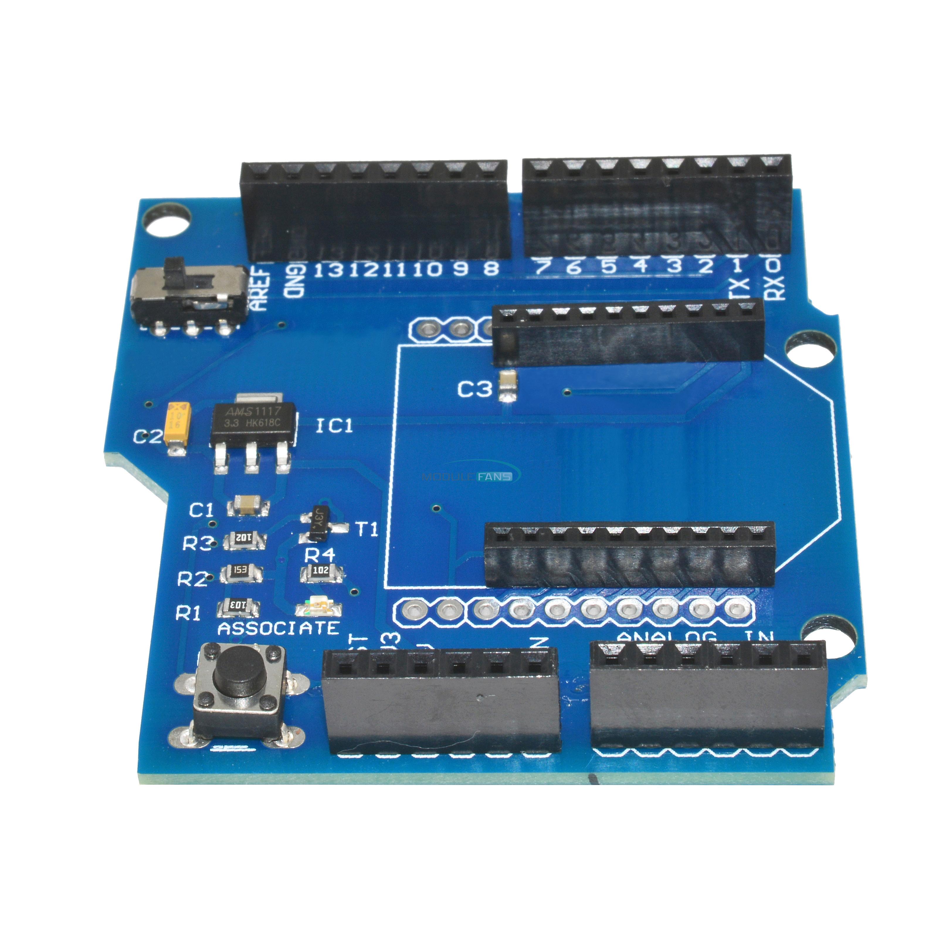 Xbee v shield board arduino hc wireless bluetooth