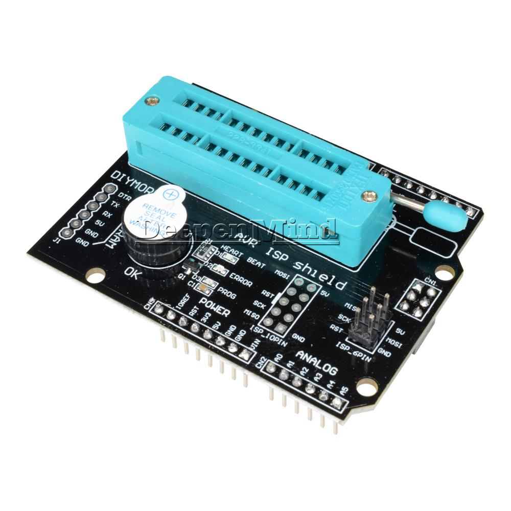 New Avr Isp Shield Burning Burn Bootloader Programmer For Arduino In System Uno R3