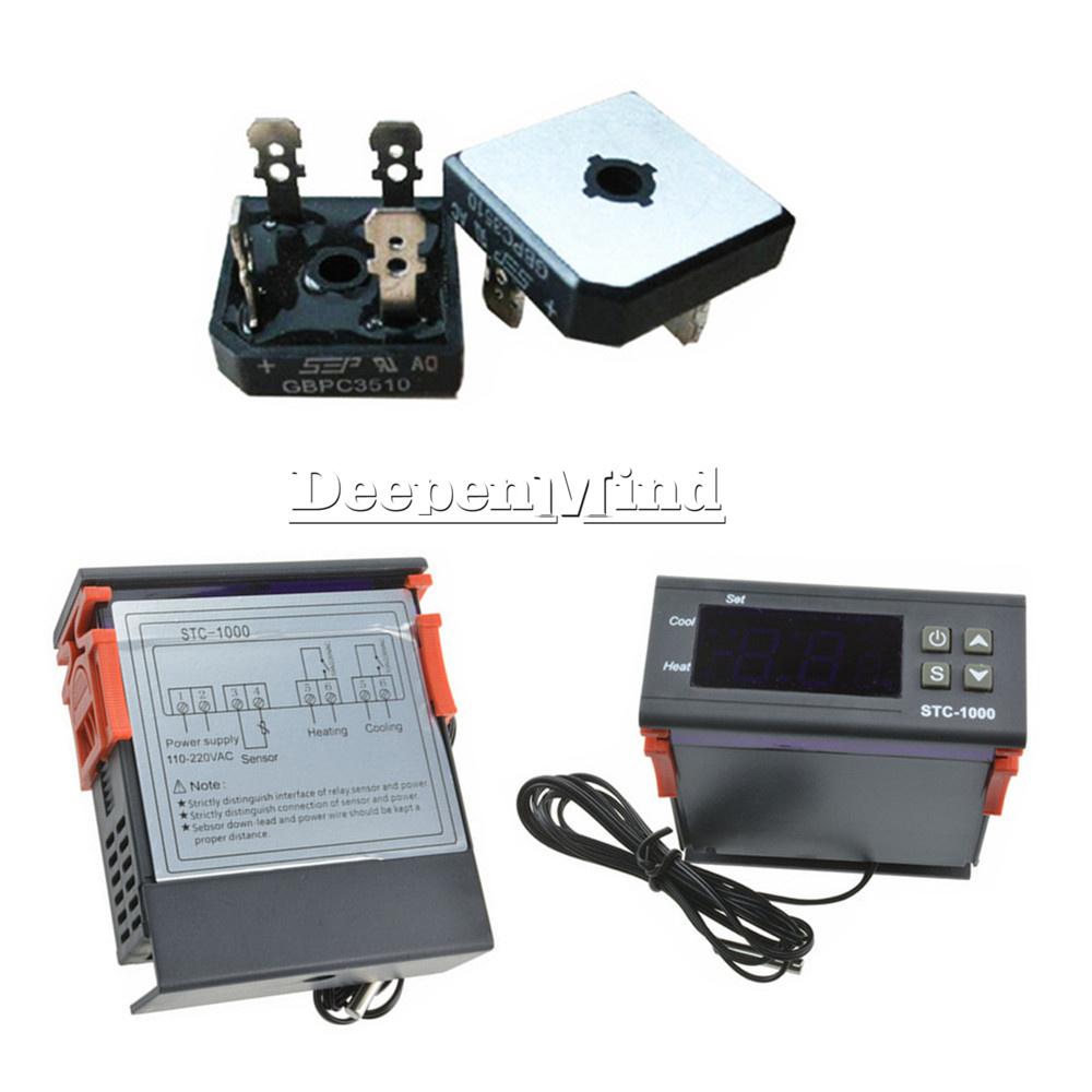 Digital Stc 1000 Temperature Controller Temp Sensor Thermostat Wiring Diagram Control 110 220v