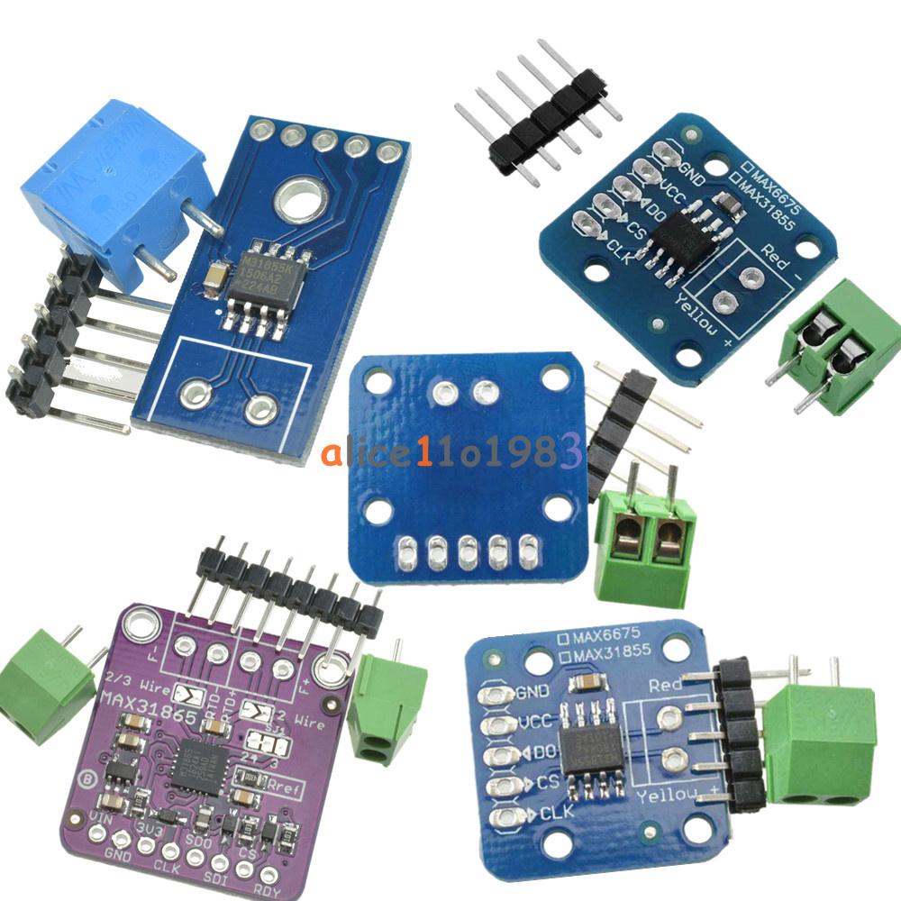 MAX31855K/31865/6675 K Type PT100 Temperature Thermocouple Sensor ...