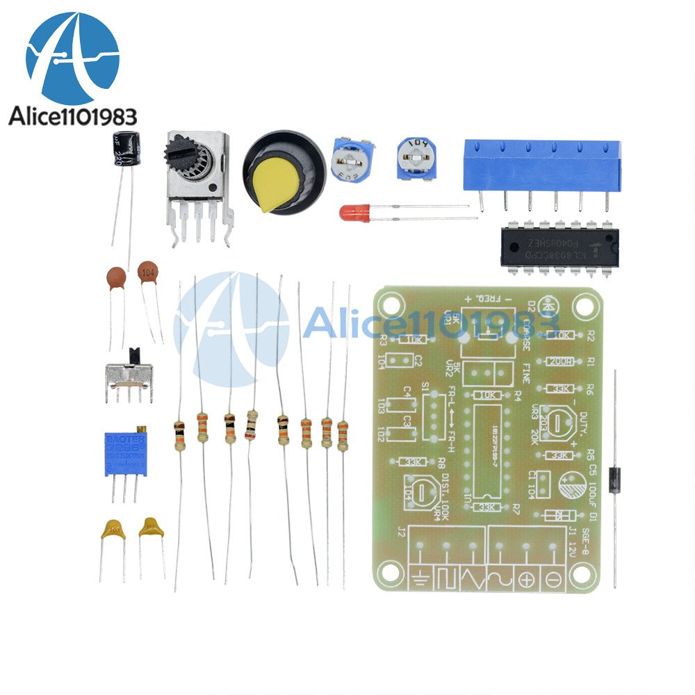 Icl8038 Monolithic Function Signal Generator Module Diy Kit Sine Variable Wave Oscillator Circuit Square Triangle