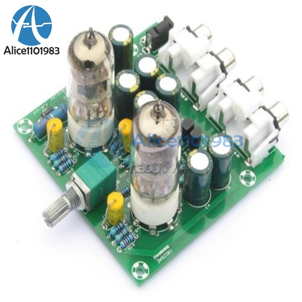 AC 12V 6J1 Valve Pre-amp Tube PreAmplifier Board Headphone ...