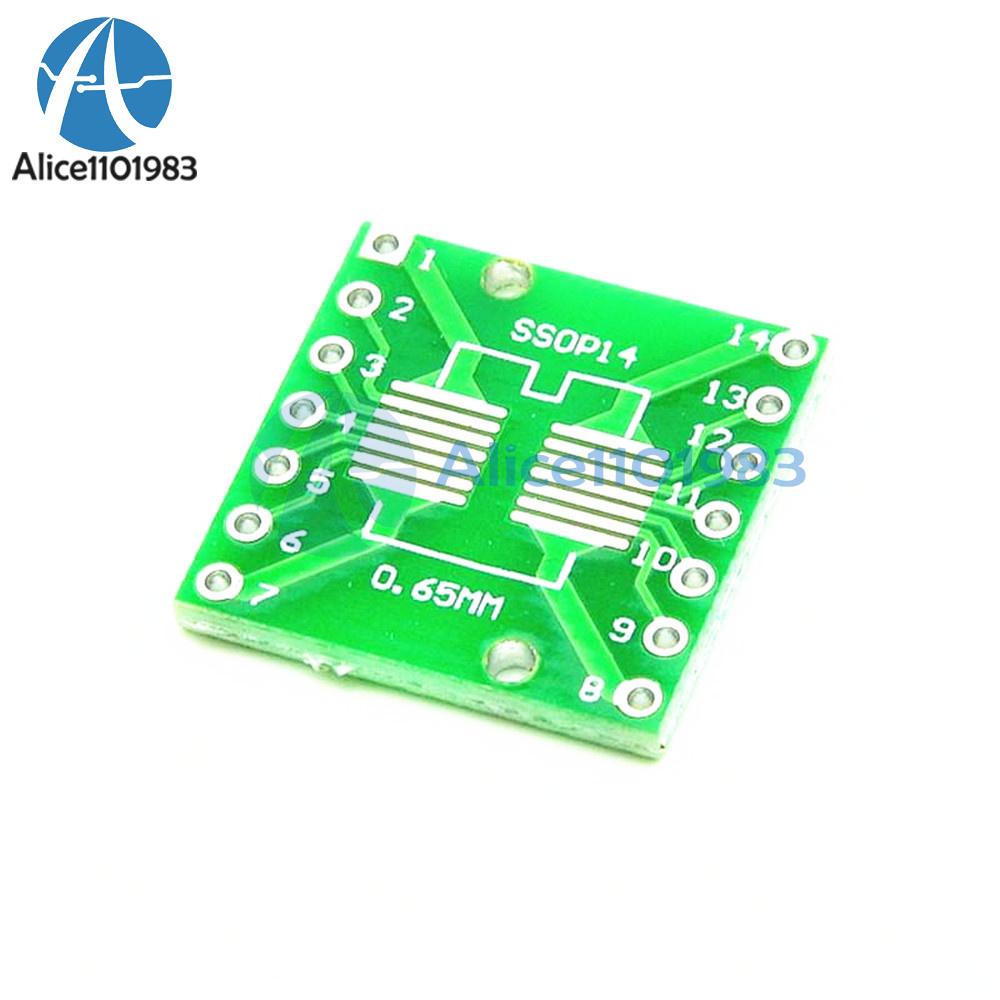 10PCS IC SOP14 SSOP14 TSSOP14 DIP 0.65//1.27//2.54mm Adapter PCB Board Converter
