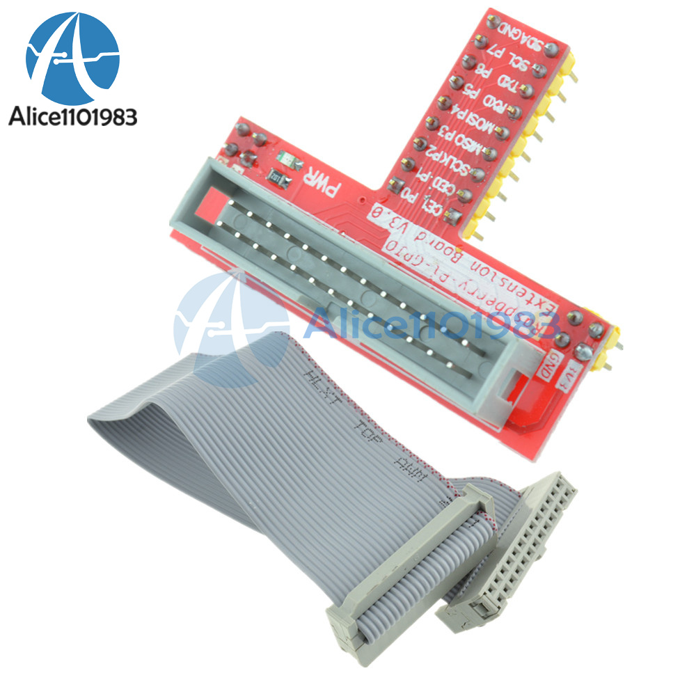MB102 breadboard Raspberry Pi GPIO extension adapter 26pin GPIO ribbon cable