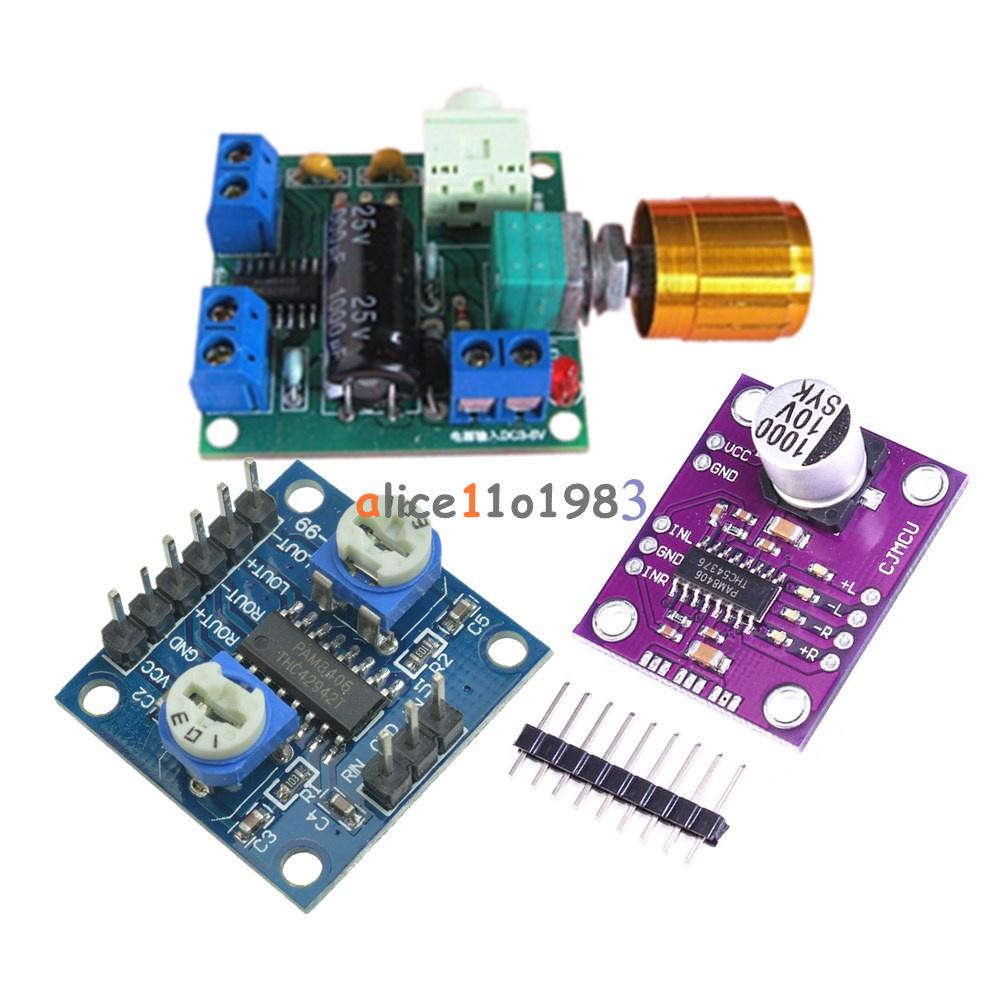 PAM8406 MCU8406 Digital Class D Power Amplifier Stereo Audio Development Board