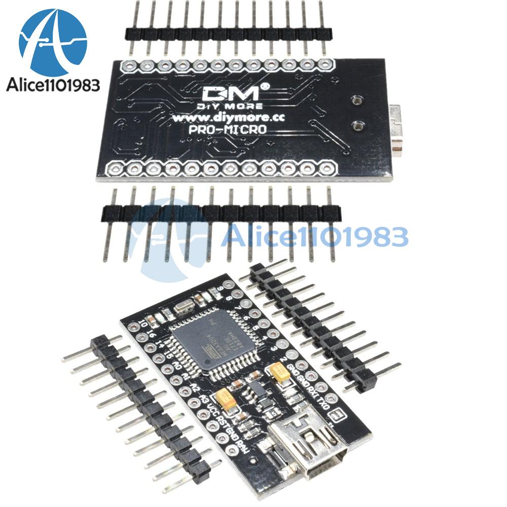 1 2 5 10pcs Mini Usb Pro Micro 5v 16mhz Atmega32u4 Replace Atmega328 Microcontroller Circuit Board For Arduino