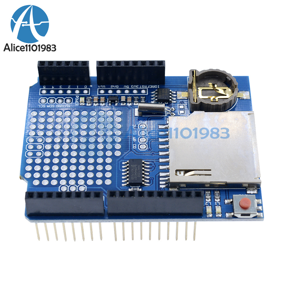 Details about Data Logger Module Logging Shield Data Recorder DS1307 for  Arduino UNO SD Card