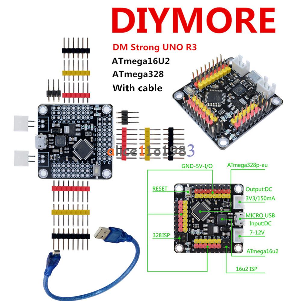 Micro USB DM Strong Mini UNO R3 Board ATmega328 ATmega16U2 SPI IIC For Arduino